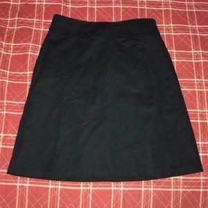 Banana republic petite black aline mini skirt